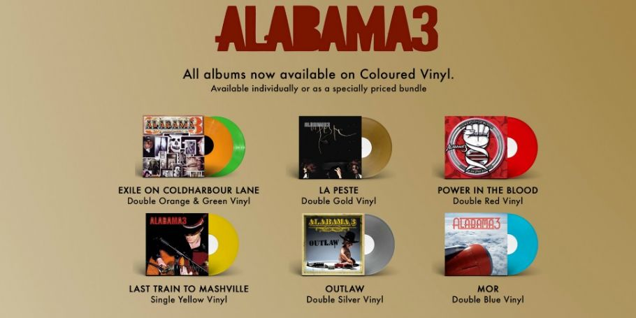 Alabama 3, All albums now available on coloured vinyl